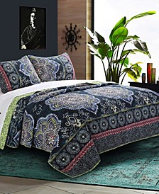 Twyla Midnight Quilt Set, 3-Piece Full - Queen