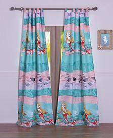 Mermaid Window Panel Pair