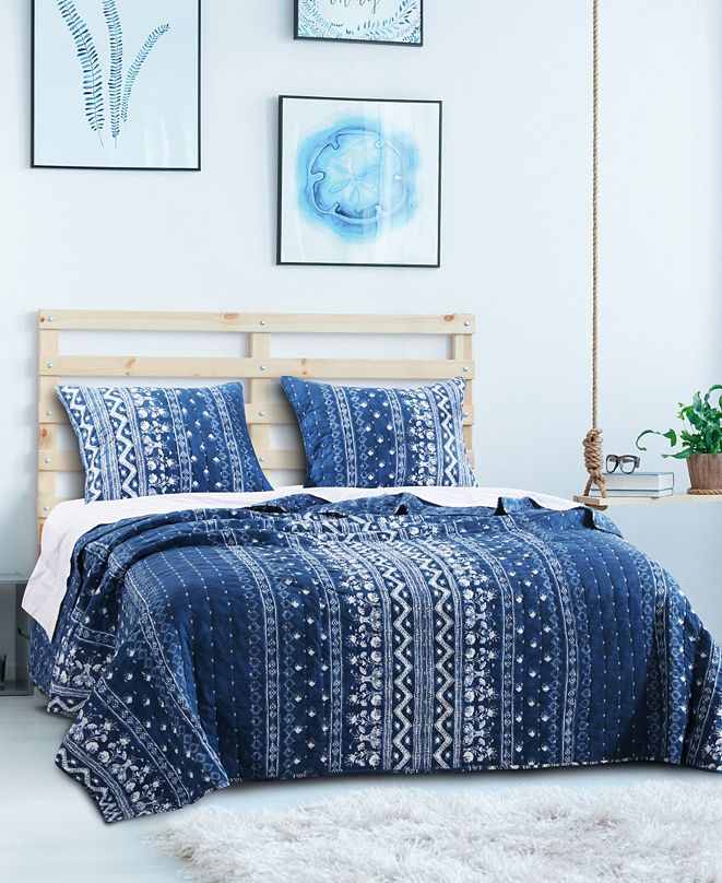 Greenland Home Fashions Embry Quilt Set, 2-Piece Twin