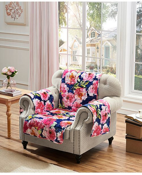 Greenland Home Fashions Peony Posy Furniture Protector Arm Chair