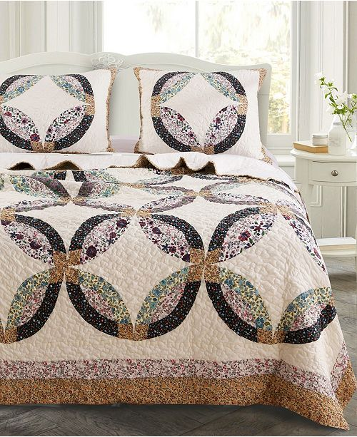 Greenland Home Fashions Sweet Caroline Quilt Set, 2-Piece Twin