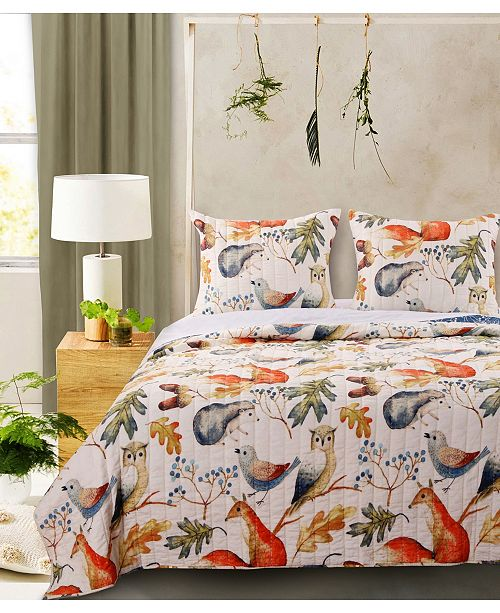 Greenland Home Fashions Willow Quilt Set, 2-Piece Twin