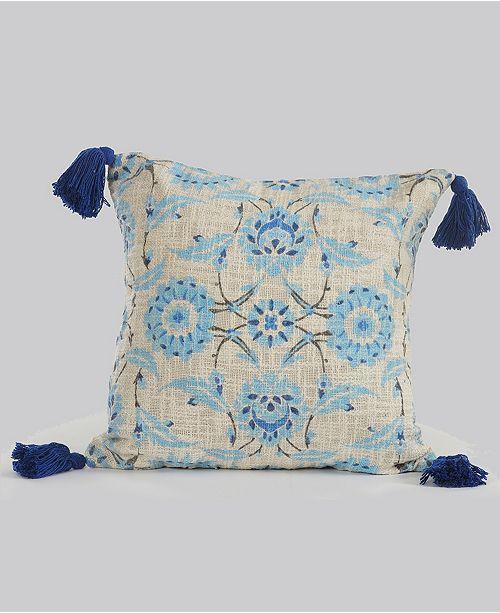 LR Home Suzani Floral Throw Pillow
