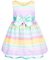 Bonnie Baby Baby Girls Multicolor Striped Dress b090411d9ae5