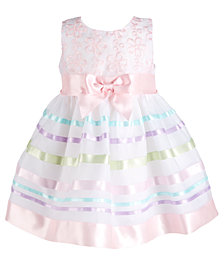 Bonnie Baby Baby Girls Embroidered Organza Dress