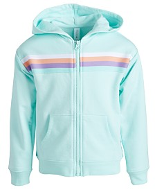 Ideology Little Girls Striped Zip-Up Hoodie, Created for Macy's