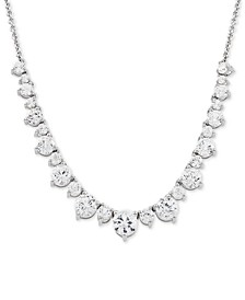 "Swarovski Zirconia 16"" Collar Necklace in Sterling Silver"