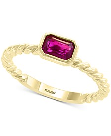 EFFY® Certified Ruby (5/8 ct. t.w.) Ring in 14k Yellow Gold (Also Available in Emerald)