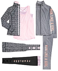 Ideology Big Girls Zip-Up Jackets, Layered-Look Tank Top & Leggings, Created for Macy's