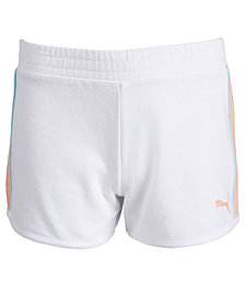 Puma Big Girls Colorblocked Shorts