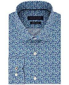 Men's Slim-Fit TH Flex Non-Iron Supima Stretch Floral Dress Shirt