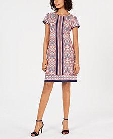 Pappagallo Victoria Mixed-Print Shift Dress