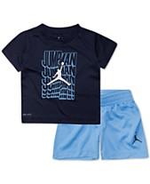 Jordan Little Boys 2-Pc. Wavy Logo Graphic T-Shirt   Shorts Set 8ec0bc81d