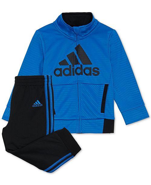 adidas Toddler Boys 2-Pc. Logo Jacket & Pants Set