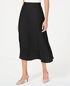Alfani Pleated Midi Skirt, Created for Macy's