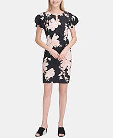 Calvin Klein Floral-Print Keyhole Sheath Dress