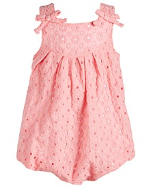 Baby Girls Eyelet Bubble Romper, Created for Macy's
