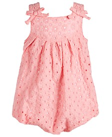 First Impressions Baby Girls Eyelet Bubble Romper, Created for Macy's