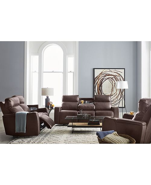 Oaklyn Fabric & Leather Sofa Collection