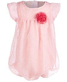 Baby Girls Rosette Bubble Romper, Created for Macy's