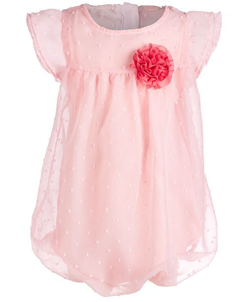 First Impressions Baby Girls Rosette Bubble Romper, Created for Macy's