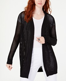 I.N.C. Open-Knit Cardigan, Created for Macy's