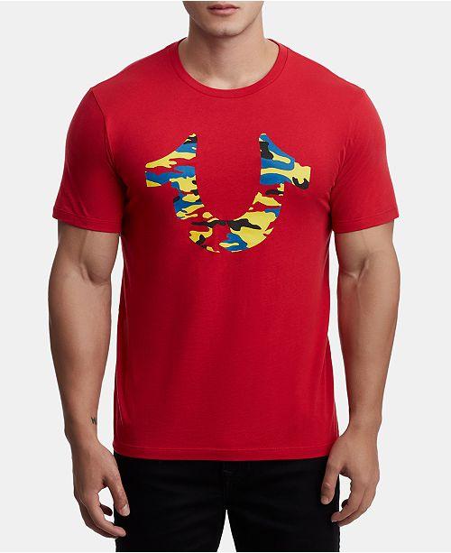 True Religion Men's Camo Logo T-Shirt