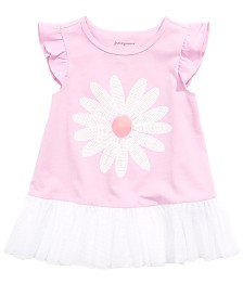 First Impressions Baby Girls Flower Peplum Tunic, Created for Macy's