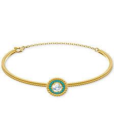 Swarovski Crystal Circle Bangle Bracelet