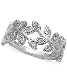 Giani Bernini Cubic Zirconia Vine Ring in Sterling Silver, Created for Macy's
