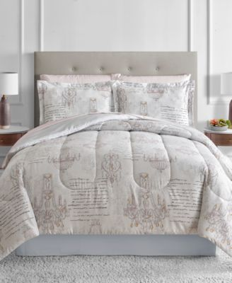 Chandelier Reversible Blush 6-Pc. Twin Comforter Set