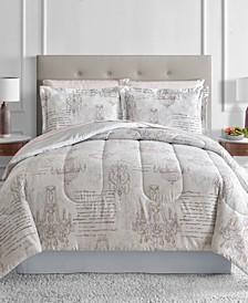 CLOSEOUT! Chandelier Reversible Blush 8-Pc. Full Comforter Set