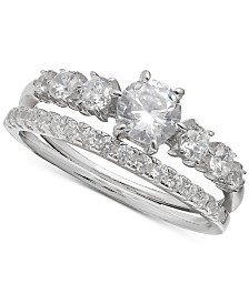 Giani Bernini Cubic Zirconia Bridal Set in Sterling Silver, Created for Macy's