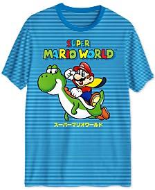 Super Mario World Striped Men's Graphic T-Shirt