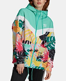 d55867d8ce adidas Originals Colorblocked Printed Hooded Windbreaker