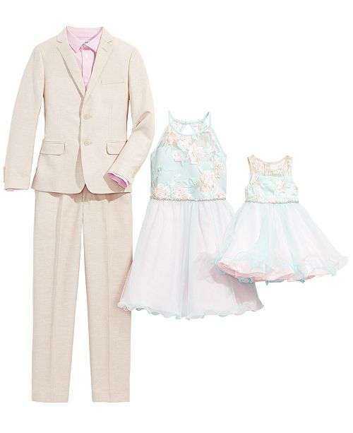 Rare Editions & Tommy Hilfiger Siblings Suit & Dress Separates