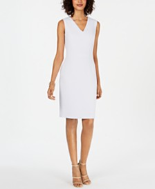 Nine West V-Neck Sleeveless Sheath Dress