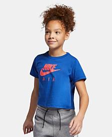 Nike Big Girls Logo Graphic Cropped T-Shirt