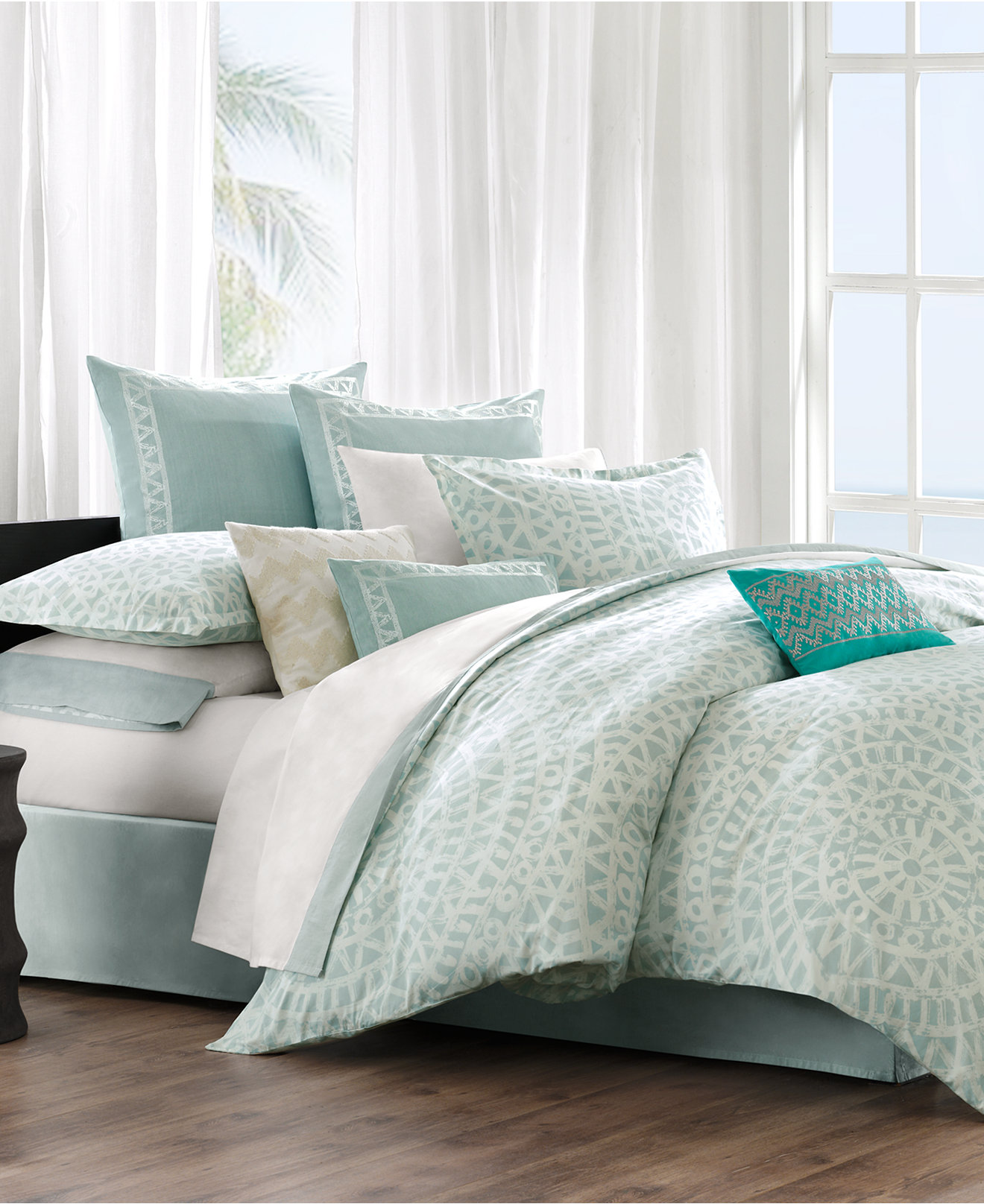 bedding collections  macy's - echo mykonos bedding collection  cotton