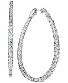 Diamond (5 ct. t.w.) Hoop Earrings in 14k White Gold