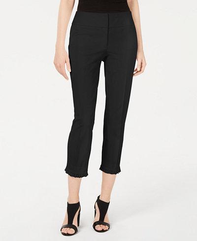 Alfani Petite Ruffle-Hem Ankle Pants, Created for Macy's