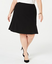 Bar III Plus Size Ruffle-Hem Skirt, Created for Macy's