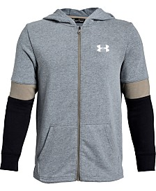 Under Armour Big Boys Rival Terry Zip-Up Colorblocked Hoodie