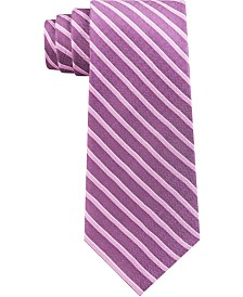 Michael Kors Men's Premium Light Stripe Slim Silk Tie