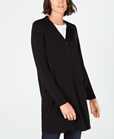 Eileen Fisher Button-Down Long Tencel ™ Cardigan