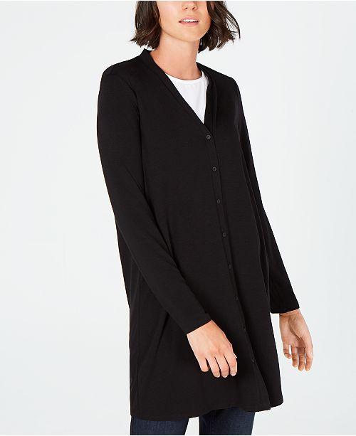 Eileen Fisher Button-Down Long Tencel ™ Cardigan