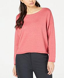 Eileen Fisher Organic Scoop-Neck Sweater, Regular & Petite