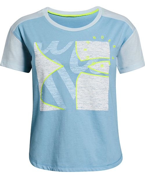 Under Armour Big Girls Graphic-Print Cutout-Back T-Shirt
