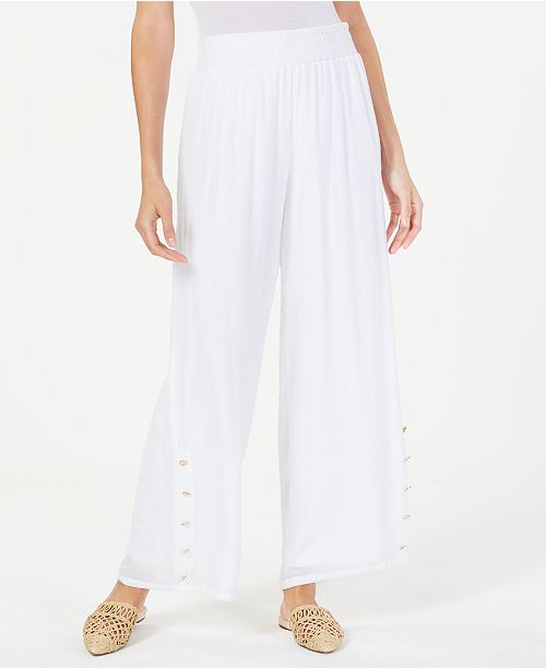 JM Collection Petite Embellished Soft Pants, Created for Macy's