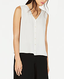 Eileen Fisher Silk Sleeveless Blouse, Regular & Petite
